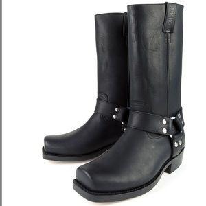 Sancho Cowboy Biker Harness Boots Excellent